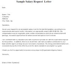 Sample Salary Request Letter