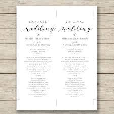 Free Wedding Program Templates Microsoft Publisher Meetwithlisa Info