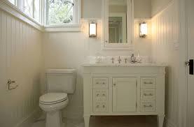 white beadboard bathroom. Cream Bathroom Vanity Cottage Giannetti Home In Beadboard Design 16 White