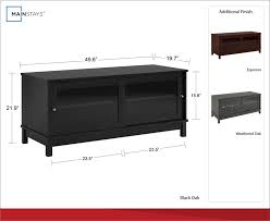 4 of 12 55 inch tv stand with sliding glass doors wood cabinet storage furniture cherry