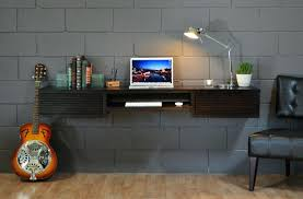 wall mounted desk hutch black stained walnut wood floating desk which attached on gray wall color inspiring wall mounted wall mounted hideaway desk uk