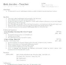 Education Resume Samples Effective Resumes Examples Elementary ...