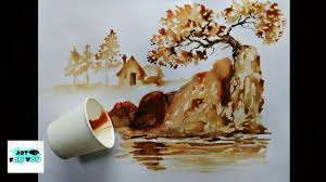 coffee art painting. Modren Art Coffee Art  Artwork Coffee Decor Instant Tea Painting   Best Latte Show In Art N