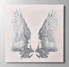 reclaimed wood angel wing art