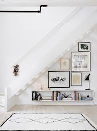 Contemporary White Under Stairs Storage Unit