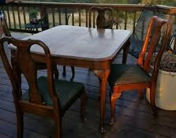 antique queen anne dining room set. image is loading vintage-ethan-allen-queen-anne-dining-table-and- antique queen anne dining room set i