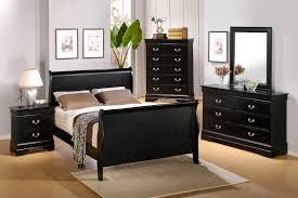 Space Bedroom Accessories Scenic Black Polished Bedroom Furnishings Set With Queen Wooden