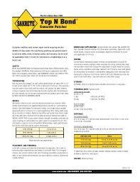 Sakrete Top N Bond Tech Data 3 10 Indd
