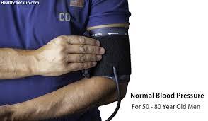 Normal Blood Pressure For Men Over 50 55 65 80 Health