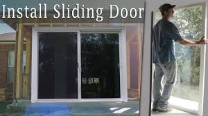 installing a large sliding glass door turn porch into room vid 9