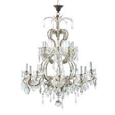 beaded glass drop chandelier