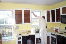 cabinet painting wood kitchen cabinets livelovediy paint non white before and after pressed ideas laminate black
