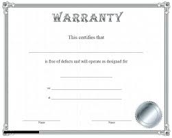 warranty template word free blank certificate border template word gift hayatussahabah co