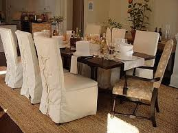 dining room covered chairs