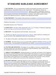 Template Lease Free Printable Rental Lease Agreement Templates Pdf Word