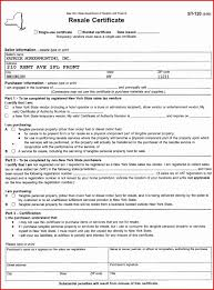 blanket certificate ofption form fill exle best new york state re reicate illinois ny tax