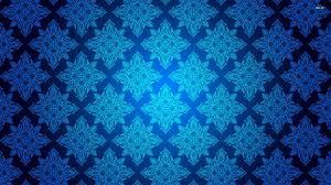 Blue Pattern Wallpaper New Blue Vintage Pattern 48 WallDevil