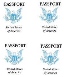 Free Passport Template For Kids Cover clipart us passport Pencil and in color cover clipart us 43