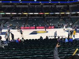 Bankers Life Fieldhouse Section 16 Home Of Indiana Pacers