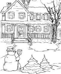Small Picture XMAS COLORING PAGES NORTH POLE SNOWY CHRISTMAS HOUSES TO COLOR