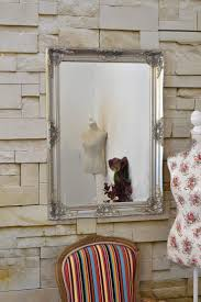 This ornate wall mirror comes in gold, white, black, silver and ivory -   Big Wall MirrorsShabby Chic ...