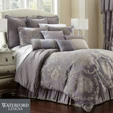 prudence steel purple comforter bedding by waterford linens waterford sheets