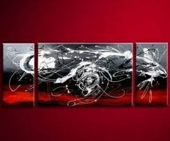 3 pics dancing lines modern art hand painted oil painting on canvas wall art deco home decoration unstretch no frame  on 3 piece abstract canvas wall art with 56 best art images on pinterest abstract art modern art and