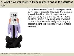 top 10 tax assistant interview questions and answers tax assistant