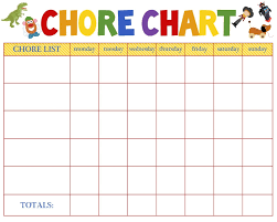 Blank Daily Chore Chart Chart And Printable World