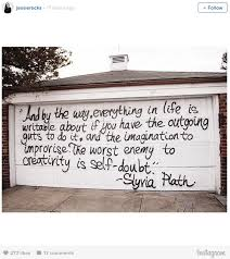 sylvia plath grafitti found on new york home let this sylvia plath graffiti be your dorm room inspiration