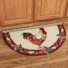 Rooster Area Rugs Kitchen Villa De Chanticleer Rooster Slice Rug