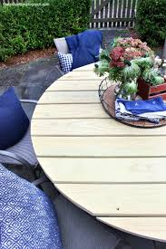 diy round outdoor table. Top View Outdoor Round Dining Table Diy Y
