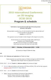 2015 International Conference on 3D Imaging (IC3D 2015)