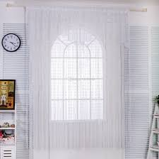 2018 y cute white lace door string curtain panels fly screen for decoration from hztykevin 5 03 dhgate com