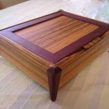 hand crafted exotic wood jewelry box canary purpleheart by thecustomcabinetguy custommade com
