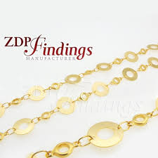 10mm rounded shaped ornament gold chain