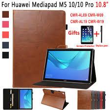 Bao Da Cao Cấp Cho Huawei Mediapad M5 10 Pro 10.8 CMR W19 CMR W09 CMR AL09  Bao Da Smart Case Cho Huawei Mediapad M5 10.8 Vỏ máy tính bảng & e-book