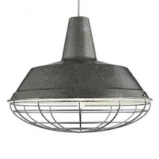 industrial ceiling pendant light in antique silver finish 7611si