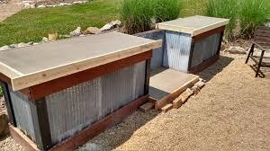 rustic outdoor kitchen ideas beautiful wood countertops plan