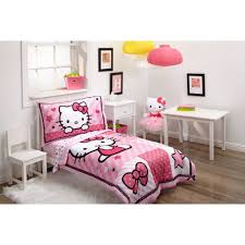hello kitty sweetheart 3 piece toddler bedding set with bonus matching pillow case com