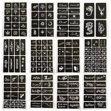 12 листов Diy аэрограф краски для росписи хной индийский татуировки шаблон