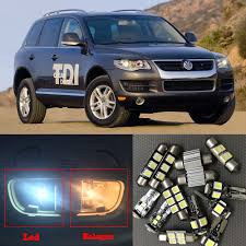 Vw Touareg Light Bulb Replacement Us 16 92 10 Off 16 Pcs Auto Led Interior Light Bulbs Canbus Kit For 2004 2010 Volkswagen Vw Touareg No Error Dome Map Tail License Plate Lamp In