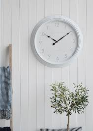 boothbay large white wall clock new