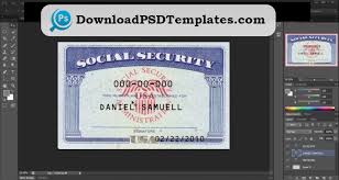 Security Social Editable Template Psd Software ssn Card