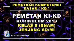Check spelling or type a new query. Pemetaan Ki Kd Kelas 6 Sd Mi Kurikulum 2013 Tahun Pelajaran 2021 2022 Datadikdasmen Com