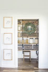diy organized walk in modern farmhouse butler s pantry makeover with floating shelves using crate