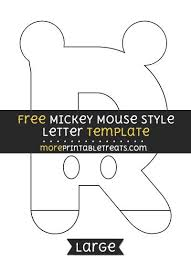 Free Templates For Letters Magnificent Free Mickey Mouse Style Letter R Template Large Shapes And