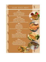 A La Carte Menu Template 30 Restaurant Menu Templates Designs Template Lab