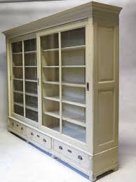 wood bookcases with glass doors elegant cherry wood