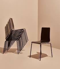martin black chair stacked and single